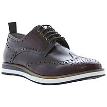 Buy Dune Brotherhood Leather Brogue Derby Shoes, Red Online at johnlewis.com