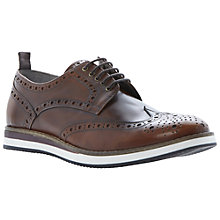 Buy Dune Brotherhood Leather Brogue Derby Shoes, Tan Online at johnlewis.com