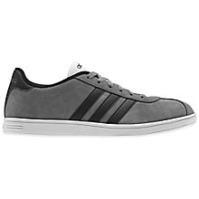 Buy Adidas Vlneo Suede Court Trainers, Grey Online at johnlewis.com