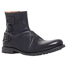 Buy KG by Kurt Geiger Dodge Biker Boots, Black Online at johnlewis.com