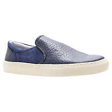 Buy KG by Kurt Geiger Corsica Slip-On Leather Shoes, Navy Online at johnlewis.com