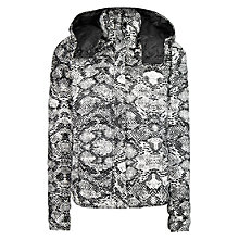 Buy Mango Printed Padded Coat, Dark Green Online at johnlewis.com