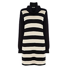 Buy Oasis Stripe Tunic Dress, Mid Neutral/Black Online at johnlewis.com