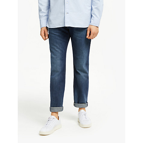 Buy Tommy Hilfiger Mercer Straight Leg Jeans, Mid Blue Online at johnlewis.com