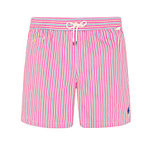 Buy Polo Ralph Lauren Traveler Swim Shorts, Pink/Blue Online at johnlewis.com