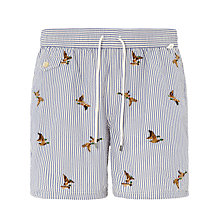 Buy Polo Ralph Lauren Traveler Duck Print Swim Shorts, Grey Online at johnlewis.com