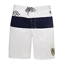 Buy Polo Ralph Lauren Sanibel Swim Shorts, White Online at johnlewis.com