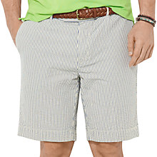 Buy Polo Ralph Lauren Seersucker Cotton Shorts, Green/White Online at johnlewis.com