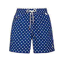 Buy Polo Ralph Lauren Polka Dot Swim Shorts, Royal Blue Online at johnlewis.com