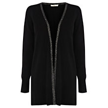 Buy Oasis Sparkle Trim Cardigan, Black Online at johnlewis.com