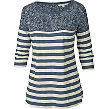 Buy Fat Face Stella Stripe T-shirt, Navy Online at johnlewis.com