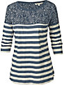 Fat Face Stella Stripe T-shirt, Navy