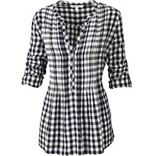 Buy Fat Face Tamara Check Shirt, Navy Online at johnlewis.com