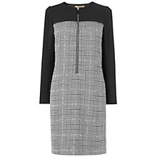 Buy Jaeger Tinsel Tweed Dress, Black Online at johnlewis.com