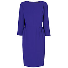 Buy Jaeger 3/4 Sleeve Crepe Dress, Bright Blue Online at johnlewis.com