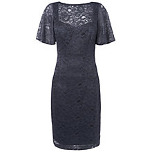 Buy Jaeger Full Sleeve Lace Dress, Grey Online at johnlewis.com