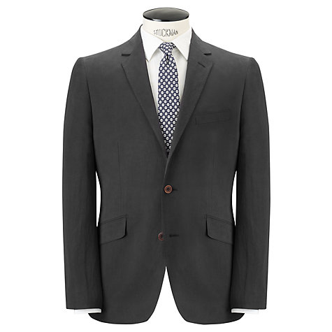 Buy John Lewis Tailored Silk Linen Blend Suit Jacket, Navy Online at johnlewis.com