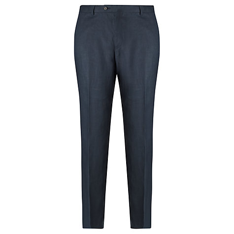 Buy John Lewis Tailored Linen Suit Trousers, Navy Online at johnlewis.com