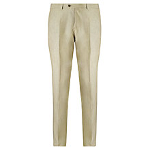 Buy John Lewis Tailored Linen Suit Trousers, Stone Online at johnlewis.com