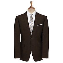 Buy John Lewis Tailored Linen Suit Jacket, Chocolate Online at johnlewis.com