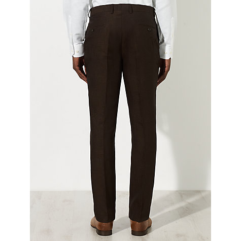 Buy John Lewis Linen Tailored Suit Trousers, Chocolate Online at johnlewis.com