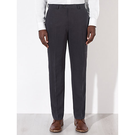 Buy John Lewis Tailored Silk Linen Blend Suit Trousers, Navy Online at johnlewis.com