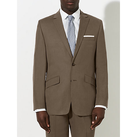 Buy John Lewis Tailored Silk Linen Blend Suit Jacket, Mink Online at johnlewis.com