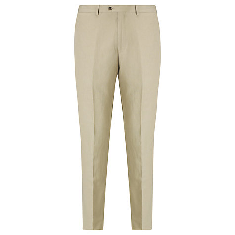 Buy John Lewis Tailored Silk Linen Blend Suit Trousers, Stone Online at johnlewis.com