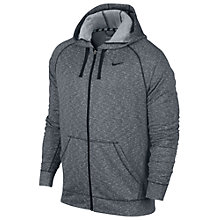 Buy Nike Dri-Fit Full Zip Hoodie, Grey Online at johnlewis.com