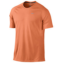 Buy Nike Miler Crew Neck Short Sleeve T-Shirt Online at johnlewis.com
