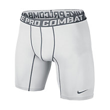 "Buy Nike Pro Combat Core Compression 6"" Shorts, White Online at johnlewis.com"