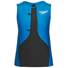 Buy Speedo Men's LZR Racer Triathlon Comp Singlet, Blue/Black Online at johnlewis.com