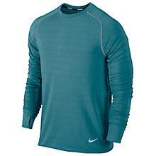 Buy Nike Feather Fleece Crew Neck Top, Green Online at johnlewis.com