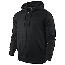 Buy Nike KO Full Zip Training Hoodie, Black Online at johnlewis.com