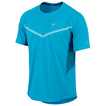Buy Nike Tech Short Sleeve T-Shirt, Blue Online at johnlewis.com