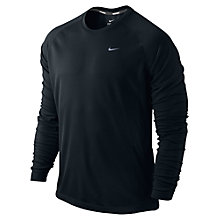 Buy Nike Miler Long Sleeve Top, Black Online at johnlewis.com