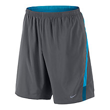 "Buy Nike 9"" Distance Shorts, Grey/Blue Online at johnlewis.com"
