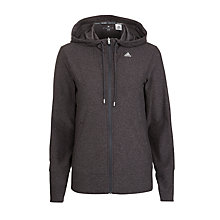 Buy Adidas Core Climalite Full Zip Hoodie, Grey Online at johnlewis.com