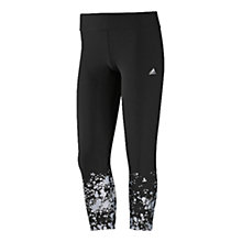Buy Adidas Print 3/4 Quarter Length Training Tights, Black Online at johnlewis.com
