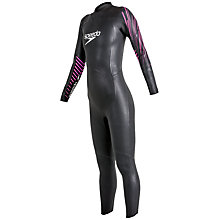 Buy Speedo Tri Event Full Sleeve Wetsuit, Black/Pink Online at johnlewis.com