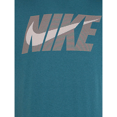 Buy Nike Legend Swoosh Short Sleeve T-Shirt, Green Online at johnlewis.com