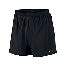 "Buy Nike 5 "" Distance Shorts, Black Online at johnlewis.com"