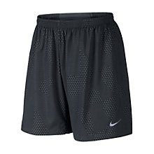 "Buy Nike 7"" Pursuit 2-in-1 Patterned Running Shorts, Black Online at johnlewis.com"