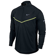 Buy Nike Tech Long Sleeve Half Zip Jacket, Black Online at johnlewis.com