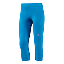 Buy Adidas Thermafit Climacool Capri Pants, Blue Online at johnlewis.com