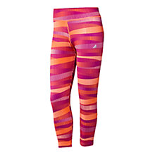 Buy Adidas Women's Ultimate All Over Print 3/4 Length Tights, Pink/Orange Online at johnlewis.com