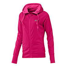 Buy Adidas Prime Hooded Jacket, Pink Online at johnlewis.com