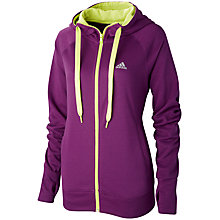 Buy Adidas Prime Hooded Jacket, Purple/Green Online at johnlewis.com