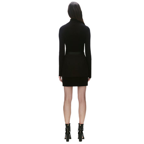Buy Whistles Clemence Skirt, Black Online at johnlewis.com