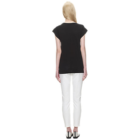 Buy Whistles Faye Seam Back T-Shirt, Black Online at johnlewis.com
